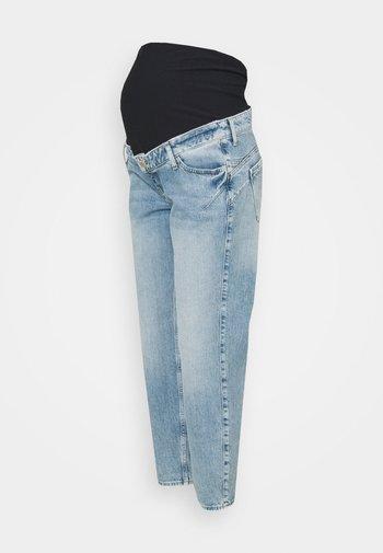 LIGHT MATERNITY COMFORT MOM - Straight leg jeans - light blue
