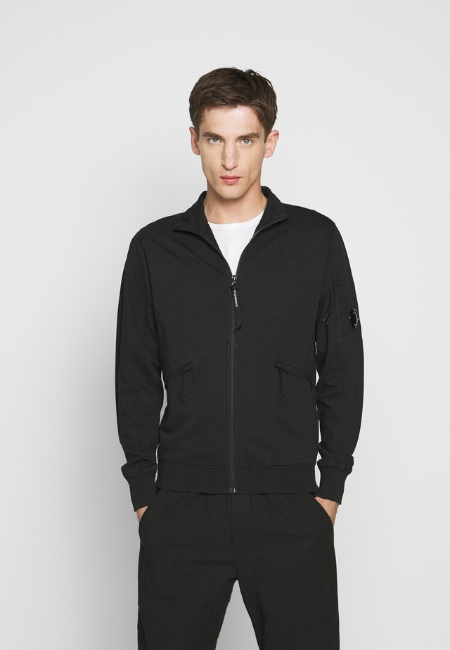 OPEN - veste en sweat zippée - black