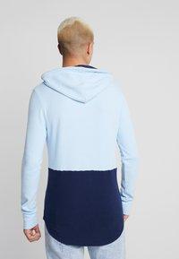 Hollister Co. - WAFFLE HOODS  - Mikina skapucí - light blue block - 2