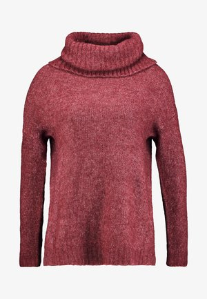 VMKIZZI LONG COWLNECK - Trui - madder brown/melange