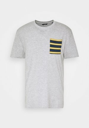 ONSMELTIN LIFE POCKET TEE - Print T-shirt - light grey melange