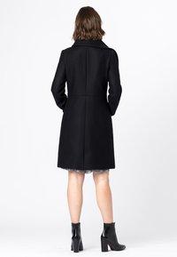HALLHUBER - MANTEL WOLLMANTEL - Classic coat - schwarz - 1