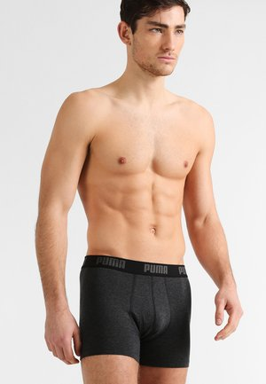 BASIC 2 PACK - Pants - black