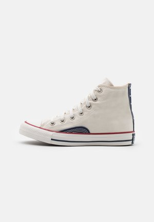 CHUCK TAYLOR ALL STAR UNISEX - Sneakersy wysokie - egret/vintage white/midnight navy