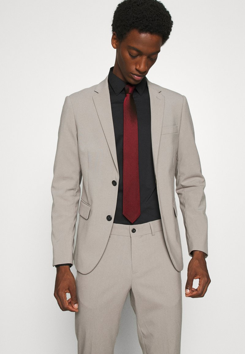 Calvin Klein - OXFORD SOLID TIE - Tie - red