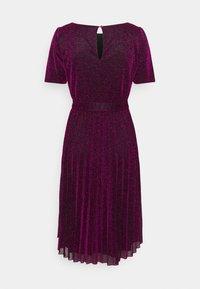 King Louie - BETTY PLISSE DRESS GLITTER PLISOLEY - Jersey dress - vivid purple - 1