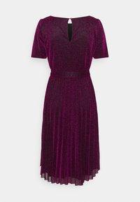 King Louie - BETTY PLISSE DRESS GLITTER PLISOLEY - Jersey dress - vivid purple - 6