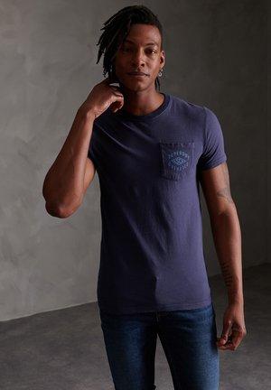 Print T-shirt - lauren navy