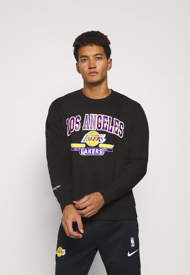NBA LA LAKERS ARCH LOGO CREWNECK - Fanartikel - black