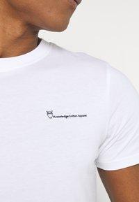 KnowledgeCotton Apparel - ALDER TEE - Basic T-shirt - bright white - 5