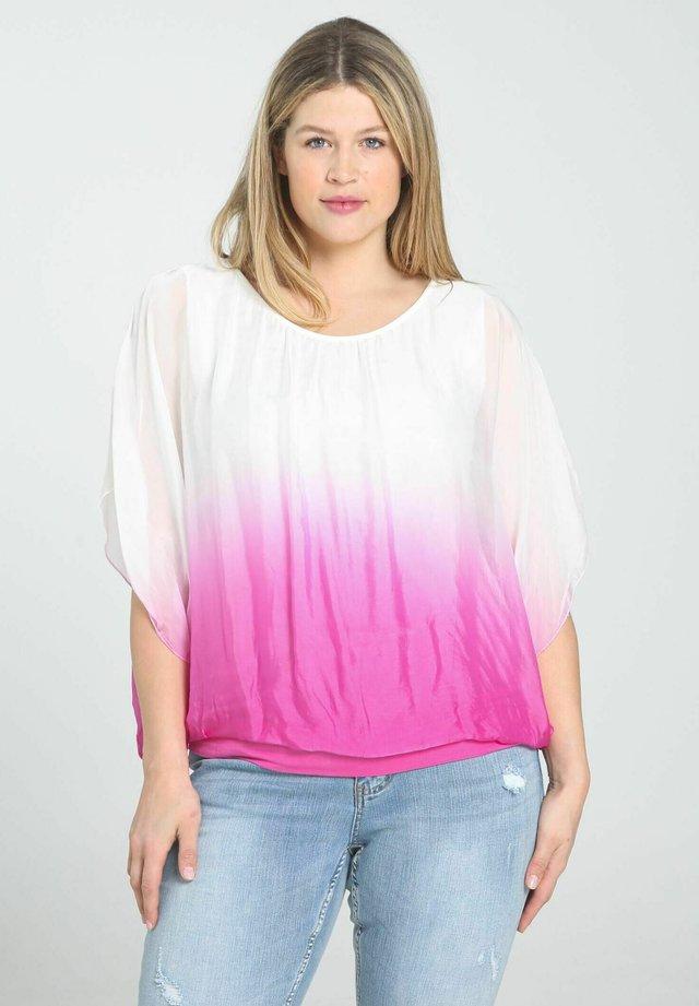 T-shirt imprimé - fushia