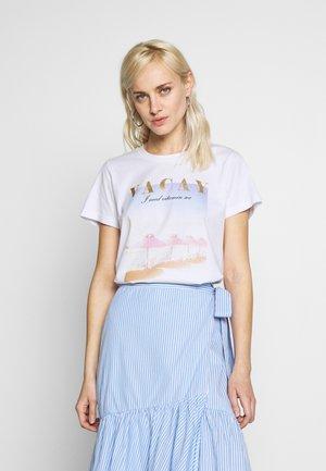 KAVARNY - Print T-shirt - optical white