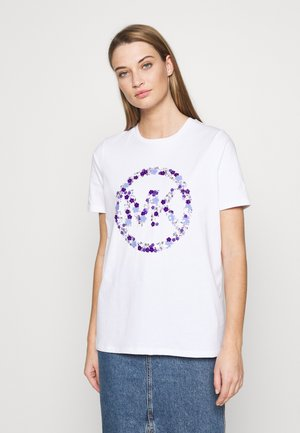 CIRCLE TEE - Triko spotiskem - white