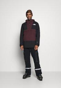 The North Face - SILVANI ANORAK - Ski jacket - bordeaux/black - 1