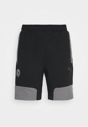 BVB BORUSSIA DORTMUND  - Pantalón corto de deporte - black/castlerock