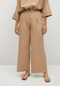 Mango - MOMO - Trousers - beige - 0