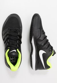 Nike Performance - Multicourt tennis shoes - black/white/volt - 1