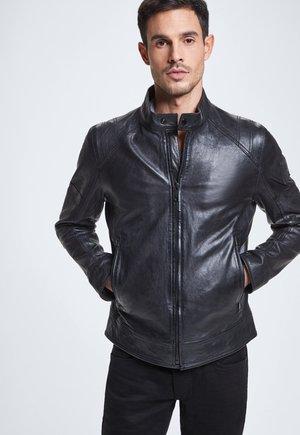 UNIVERS - Leather jacket - black