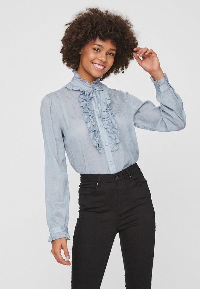 LANGÄRMELIGE - Button-down blouse - dusty blue