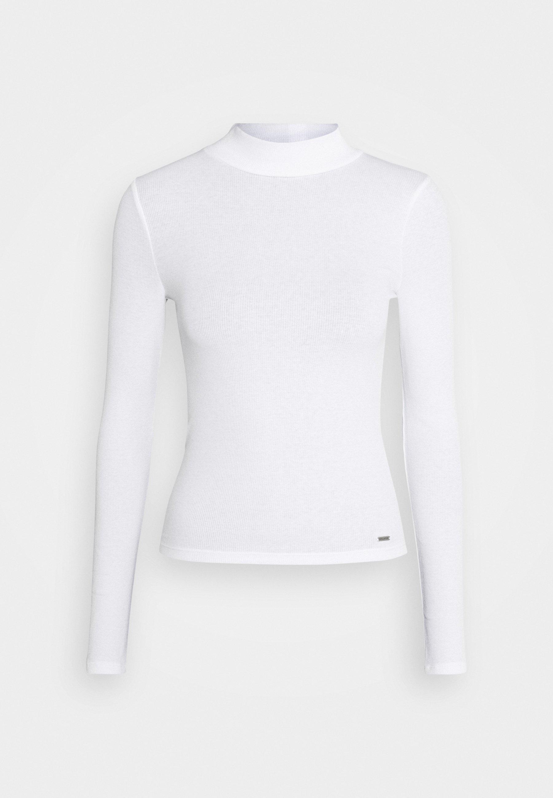 Hollister Co. Slim Mockneck - Topper Langermet White/hvit