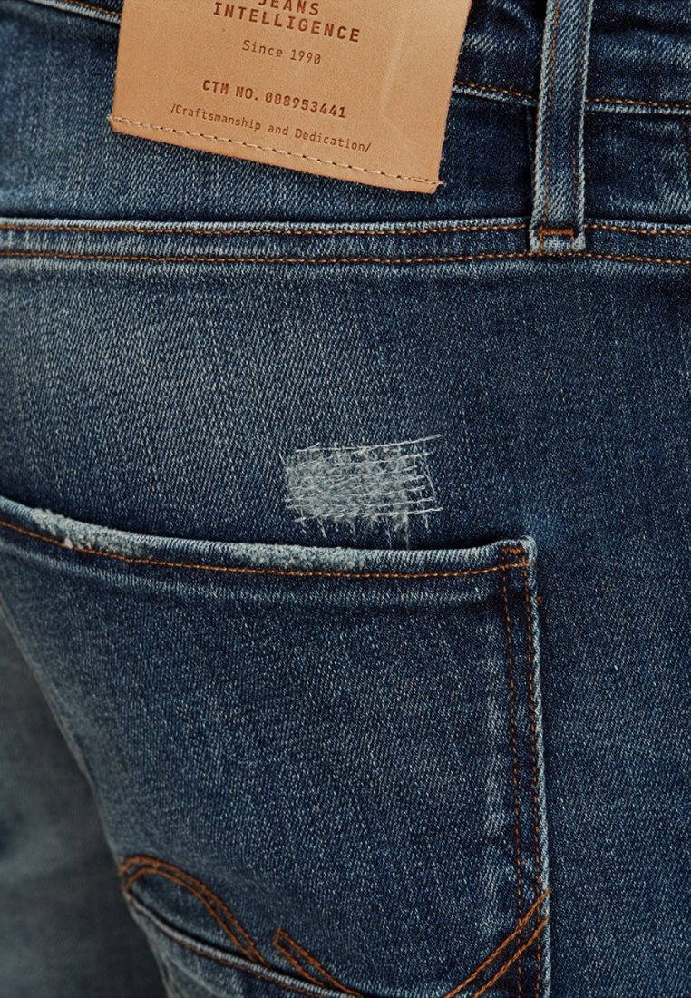 Jack & Jones TIM PAGE - Jean slim - blue denim