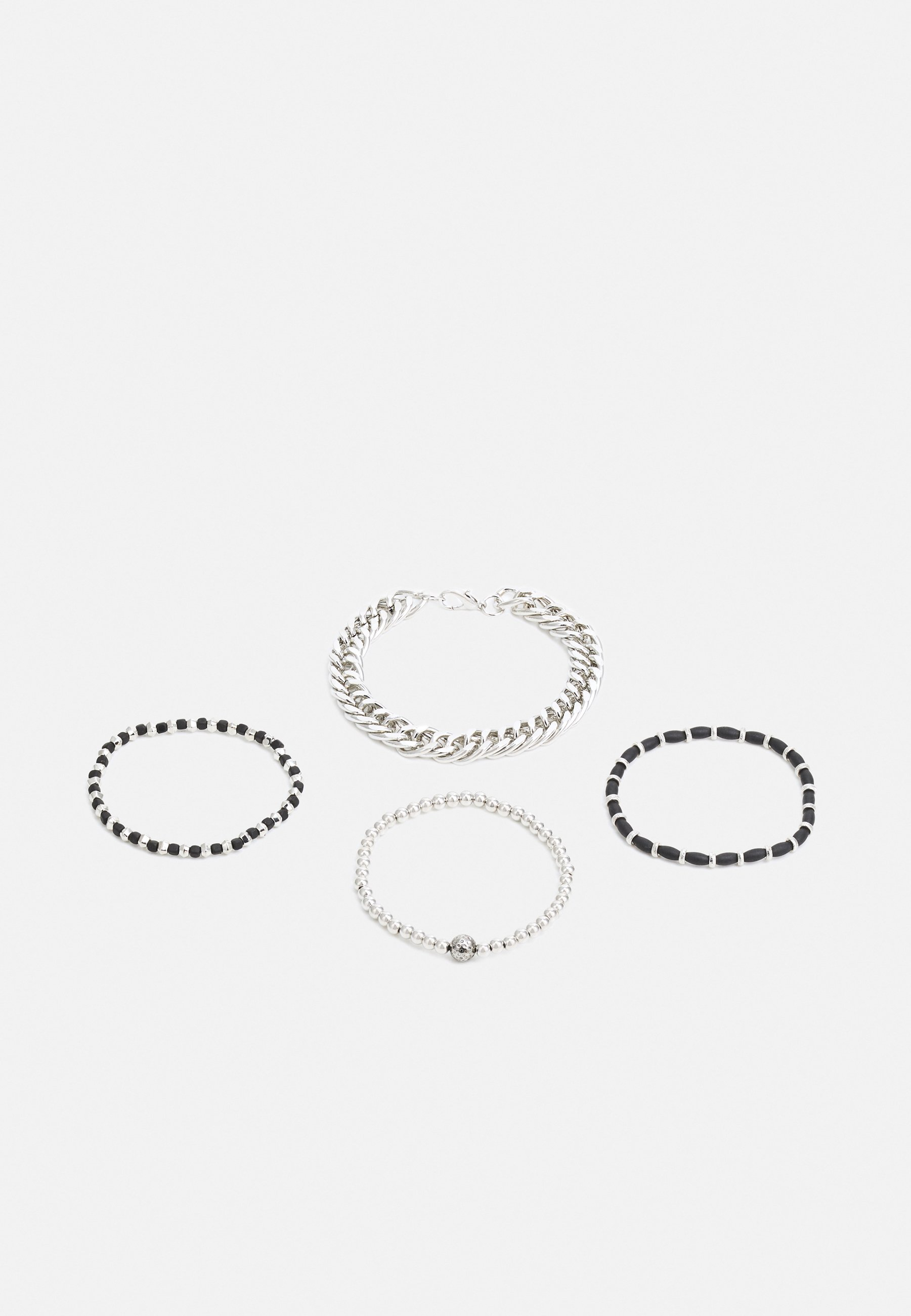 Homme CHAIN AND STRETCH BEAD 4 PACK - Bracelet