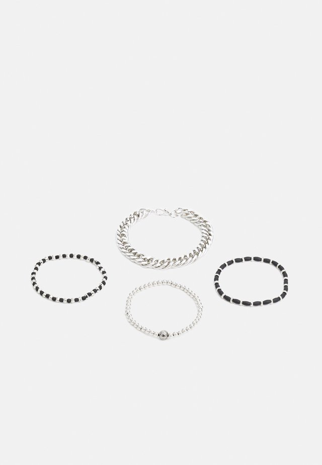CHAIN AND STRETCH BEAD 4 PACK - Bracciale - black