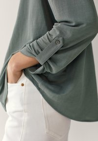 Massimo Dutti - Button-down blouse - green - 6