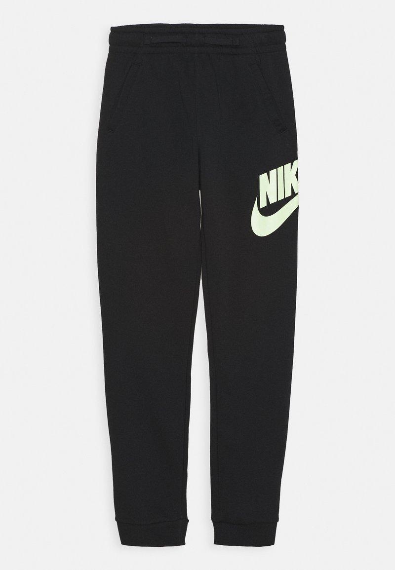 Nike Sportswear - CLUB PANT - Teplákové kalhoty - black/barely volt