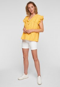 s.Oliver - ANGLAISE - Blouse - yellow - 1
