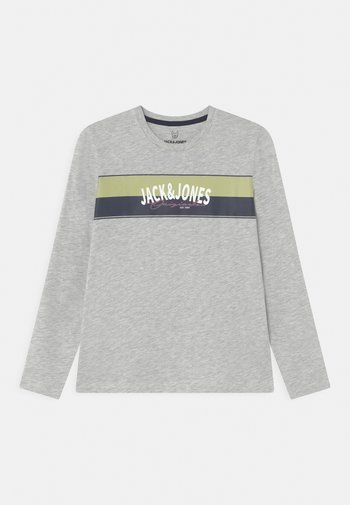 JORMASON TEE CREW NECK JR - Maglietta a manica lunga - white melange