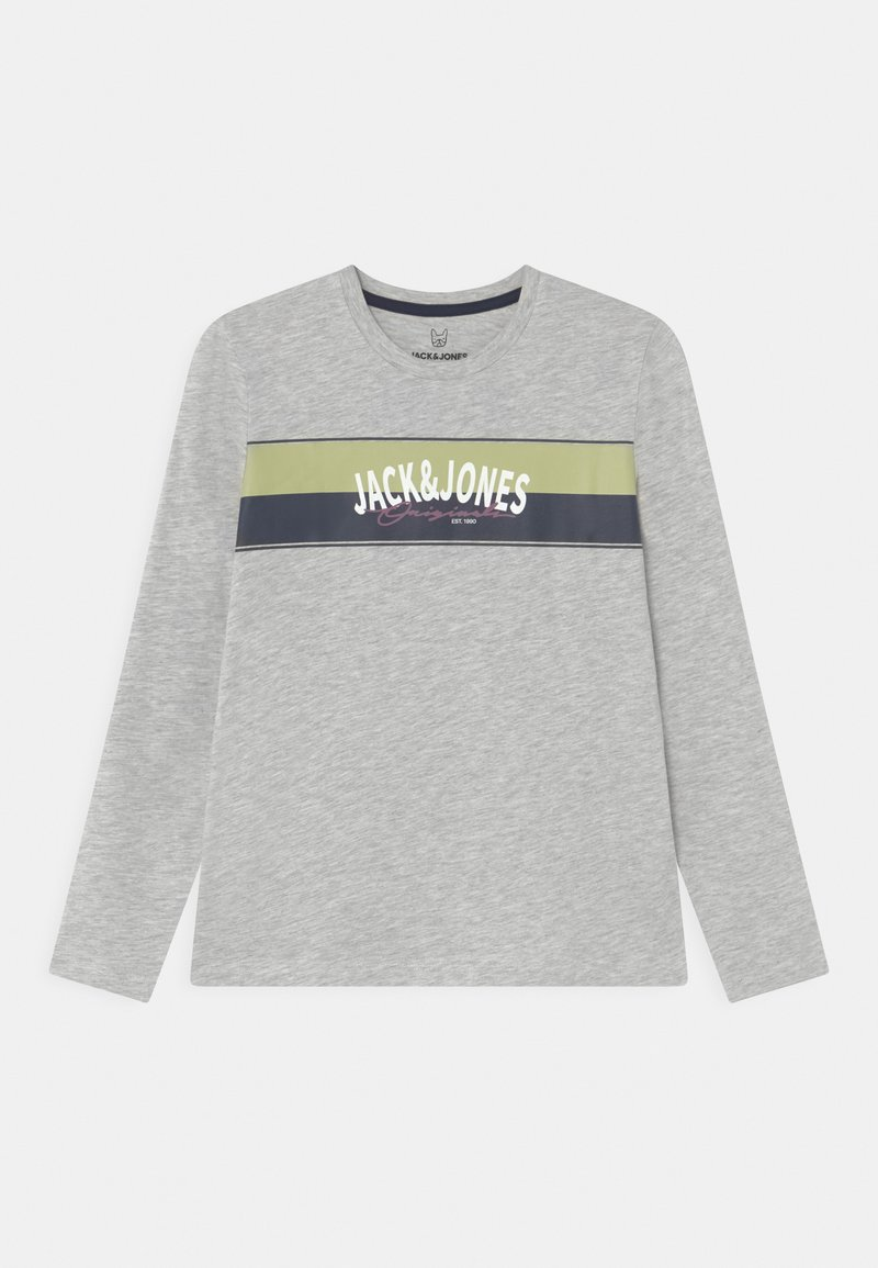 Jack & Jones Junior - JORMASON TEE CREW NECK JR - Langarmshirt - white melange