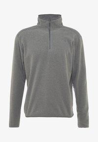 GLACIER 1/4 ZIP - Fleece jumper - medium grey heather/high rise grey