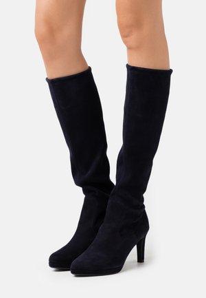 PAULINE - High heeled boots - navy