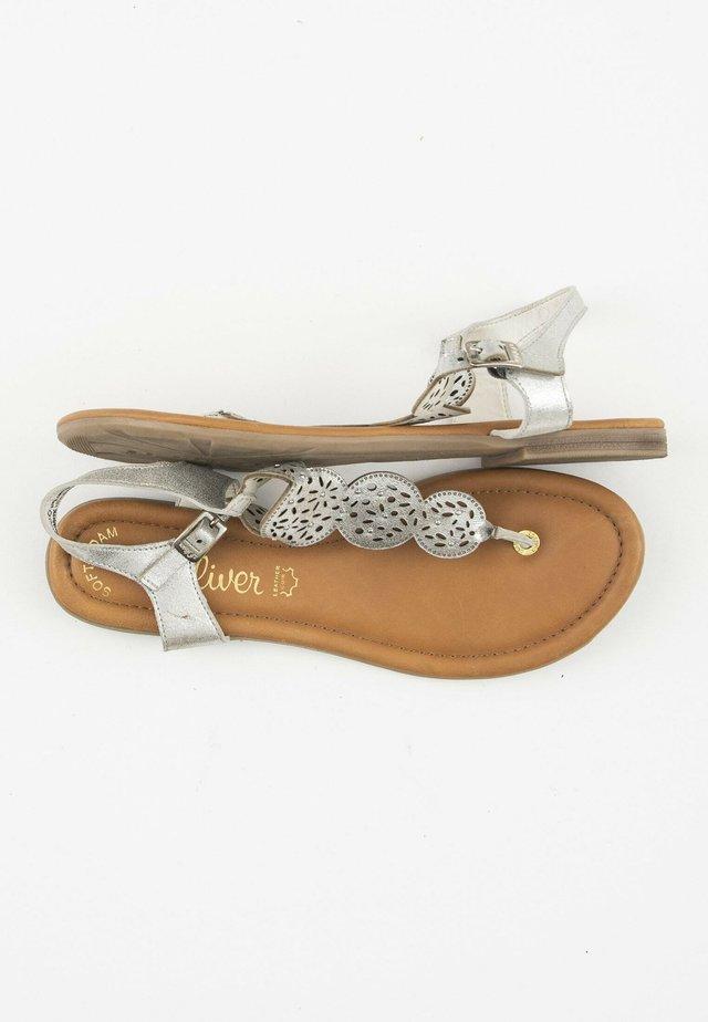 Teensandalen - silver