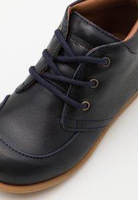 Bisgaard - BISGAARD LUCA LACE UNISEX - First shoes - navy - 5
