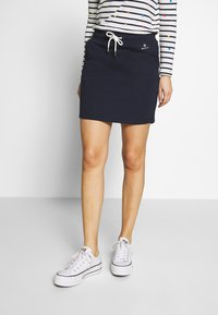GANT - GANT LOCK UP SKIRT - Mini skirt - evening blue - 0