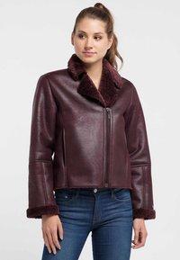 Petrol Industries - Faux leather jacket - zinfandel - 0