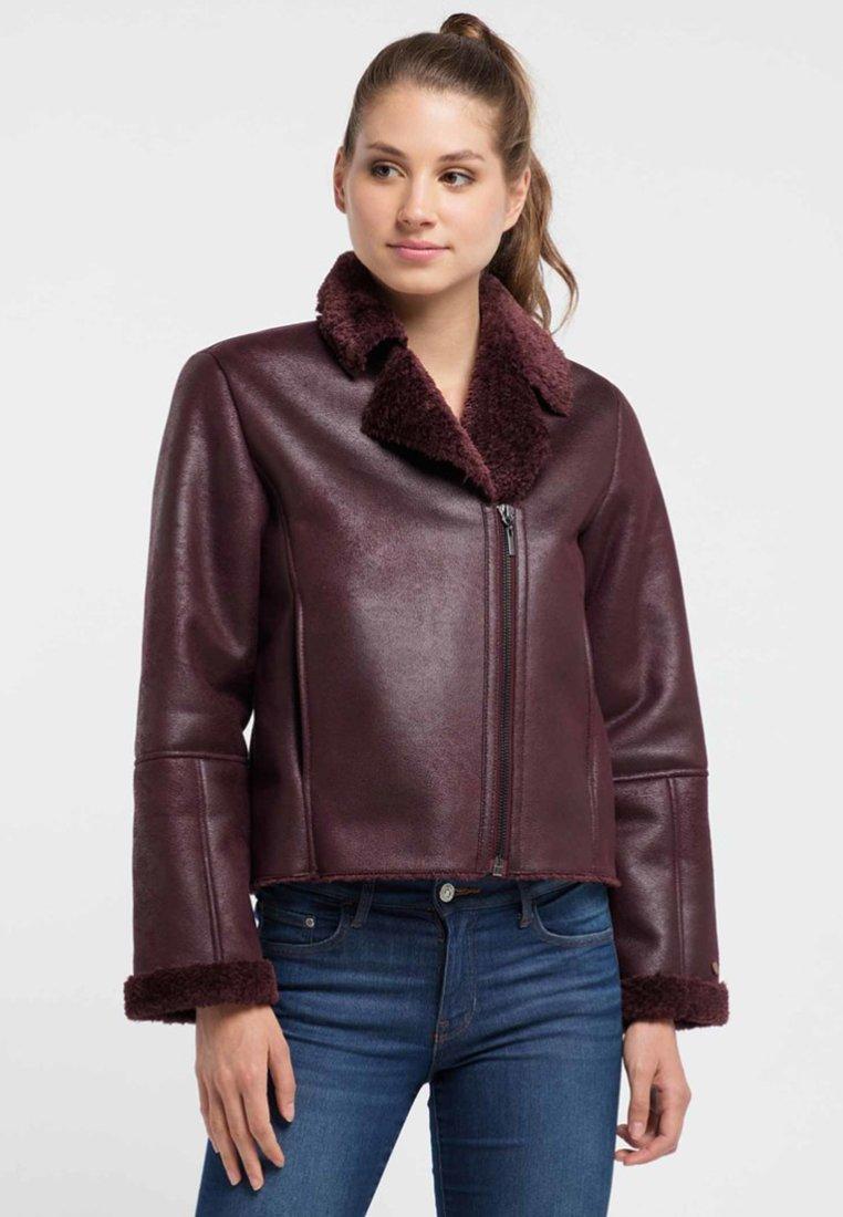 Petrol Industries - Faux leather jacket - zinfandel