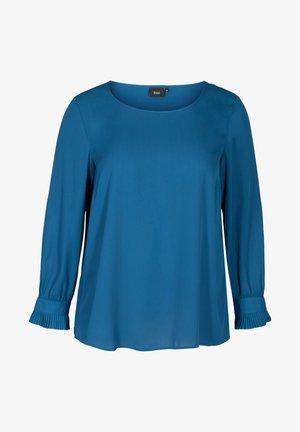 PLISSE - Blouse - blue