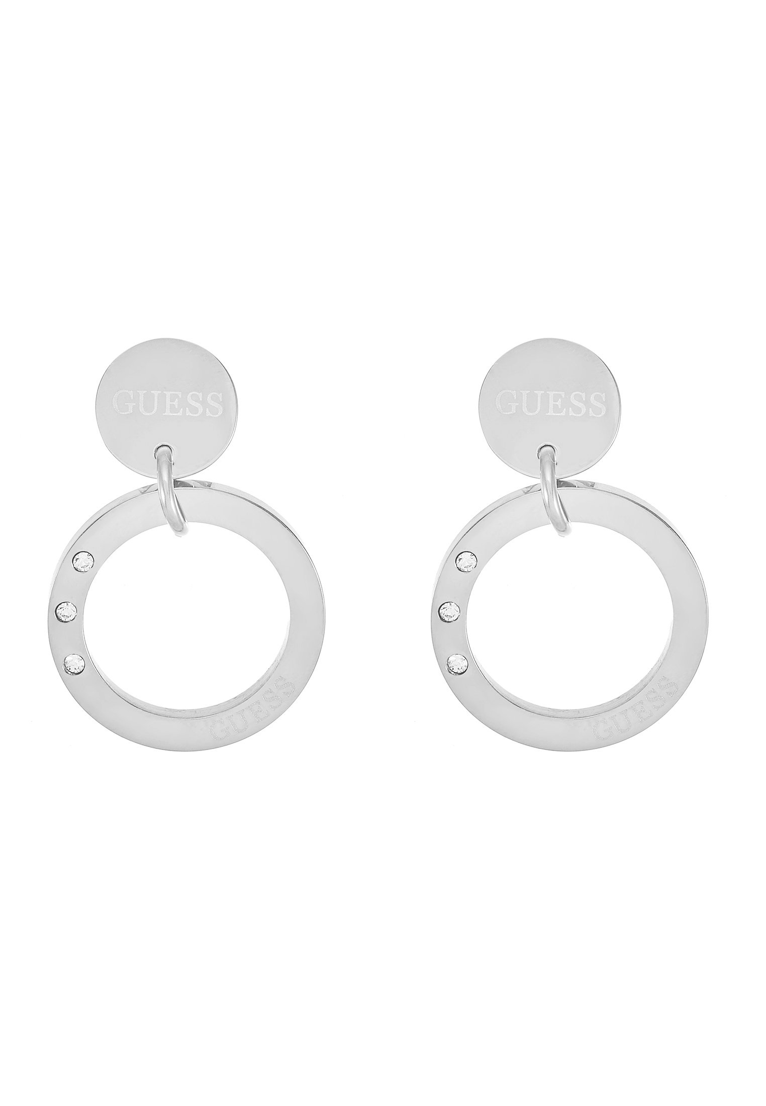 Guess ETERNAL CIRCLES - Øredobber - silver-coloured/sølvfarget okmHL18poLSvU9Q