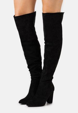 CLOVER - Kozačky na vysokém podpatku - black