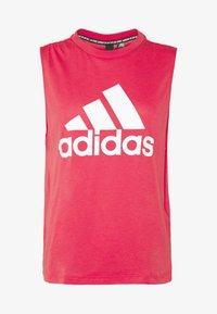adidas Performance - MUST HAVES SPORT REGULAR FIT TANK TOP - Sportshirt - pink/white - 3