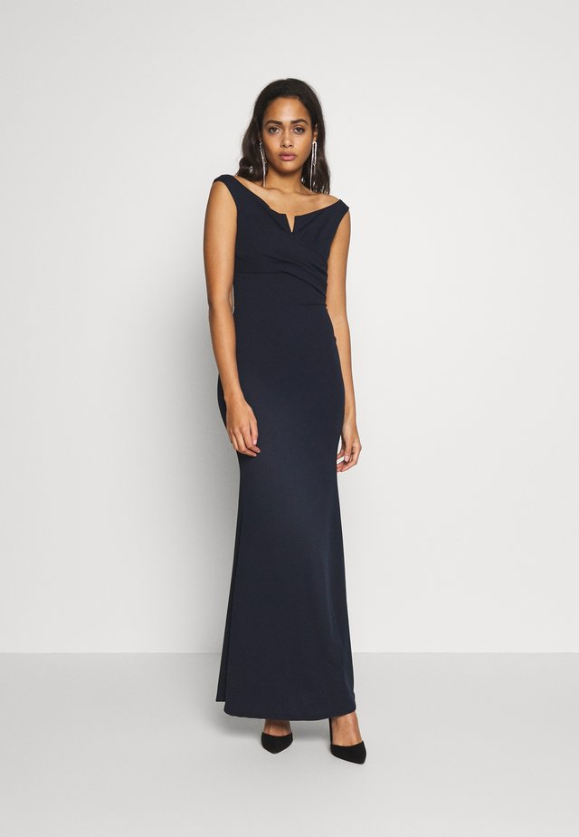 OFF THE SHOULDER DRESS - Occasion wear - navy