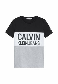 Calvin Klein Jeans - Print T-shirt - ck black - 9