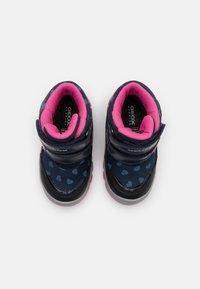 Geox - FLANFIL GIRL WPF - Winter boots - navy/fuchsia - 3