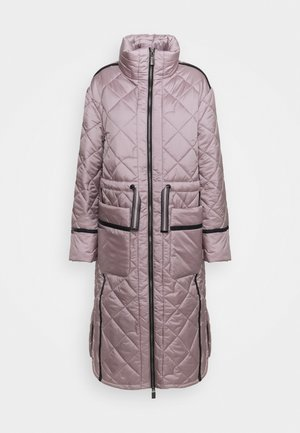 WOMENS REFINED LONG QUILTED COAT - Winter coat - metallicred