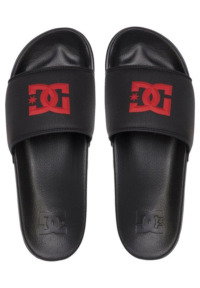 Sandales de bain - black/red