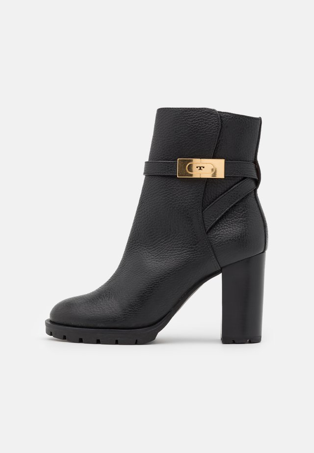 High heeled ankle boots - perfect black