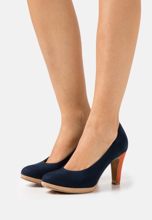 COURT SHOE - High heels - navy/multicolor
